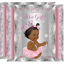 Ethnic Princess Baby Shower Pink Silver Tutu