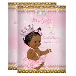 Ethnic Princess Baby Shower Pink Tutu Gold Tiara A