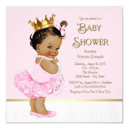 Ethnic Princess Ballerina Pink Gold Baby Shower