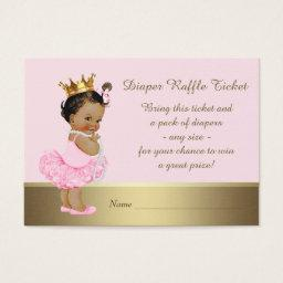 Ethnic Princess Diaper Raffle Ticket