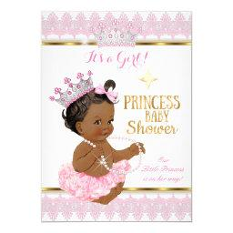 Ethnic Princess Girl Baby Shower Pink Gold Tutu