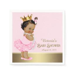 Ethnic Princess Pink Gold  Paper Napkin