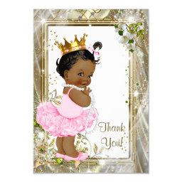 Ethnic Princess Tutu Baby Shower Thank You