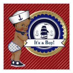 Ethnic Sailor Boy Nautical Baby Shower