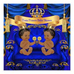 Ethnic Twin  Boy Prince Blue Gold
