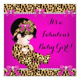 Fabulous Baby Shower Baby Cute Girl Leopard Pink 2
