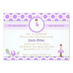 Fairy  Baby Girl Shower Purple Pixie