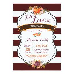 Fall in Love Pumpkin  Invitation