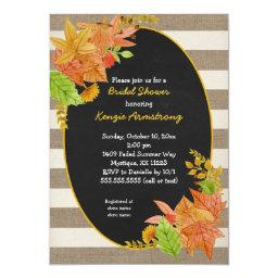 Fall Leaves and Burlap Chalkboard