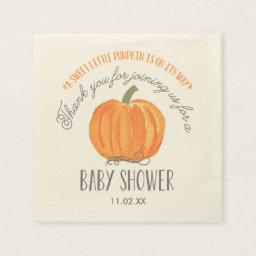 Fall Pumpkin | Baby Shower Napkin