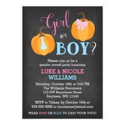 Fall Pumpkin Chalkboard Gender Reveal Party