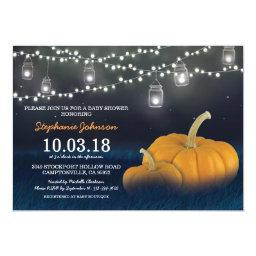 Fall Pumpkin Outdoor Blue Baby Shower