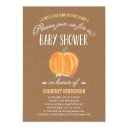 Fall Pumpkin Rustic | Baby Shower