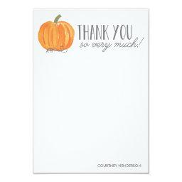 Fall Pumpkin | Thank You Note