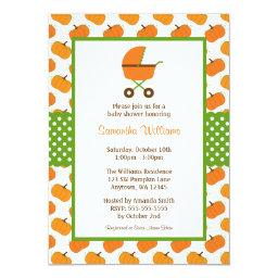 Fall Pumpkins Carriage Baby Shower