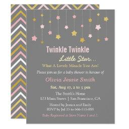 Faux Gold and Pink Twinkle Little Star