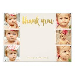 Faux Gold Baby Thank You 6 Photo Frame Flat
