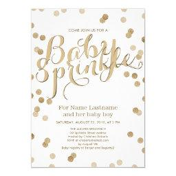 Faux Gold Confetti Modern Baby Sprinkle