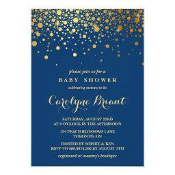 Faux Gold Foil Confetti | Navy Baby Shower