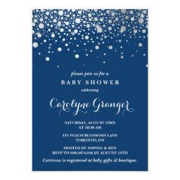 Faux Silver Foil Confetti | Navy Baby Shower