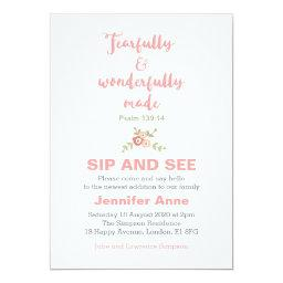 Fearfully and Wonderfully Made Sip and See Invite