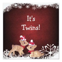 Festive Fawns Twins Christmas Baby Shower