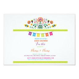 Fiesta Baby Shower Mexican Floral Mexico Invite