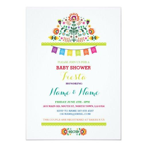 baby shower fiesta baby shower mexican girl boy bright invite