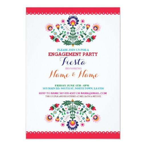 Fiesta Couples Shower Engagement Mexican Invite