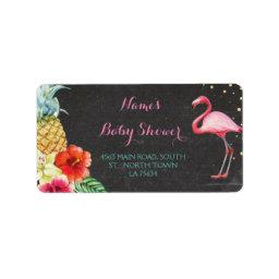 Flamingo Aloha  Address Labels Stickers