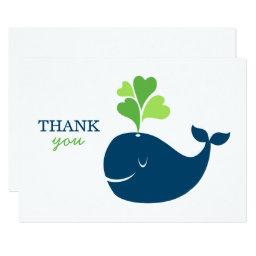 Flat Thank You Notes   Nautical Preppy Whales