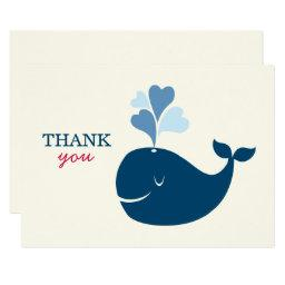 Flat Thank You Notes | Nautical Preppy Whales