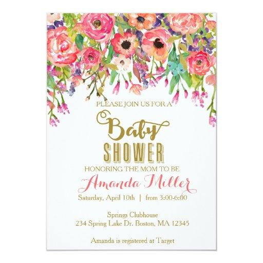 Floral Bridal Shower Invitations is nice invitations layout