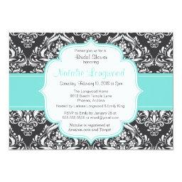 Floral Damask baby or Baby Shower