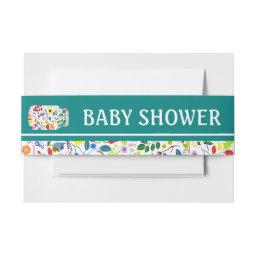 Floral Mason Jar Baby Shower  Belly Band