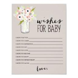 Floral Mason Jar | Wishes for Baby