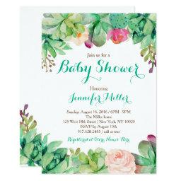 Floral Succulent Baby Shower