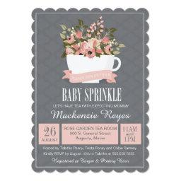 Floral Teacup Baby Sprinkle, Tea Party