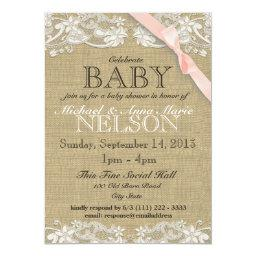 Floral White Lace and Bow Baby Shower