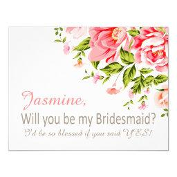 Flower Shower Will You Be My Bridesmaid?   pink