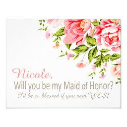Flower Shower Will You Be My Maid of Honor? | pink