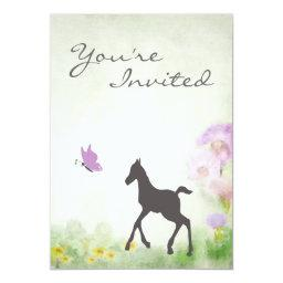 Foal and Butterfly Horse Baby Shower