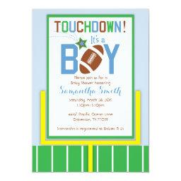Football Baby Shower Invitation-It's A Boy!