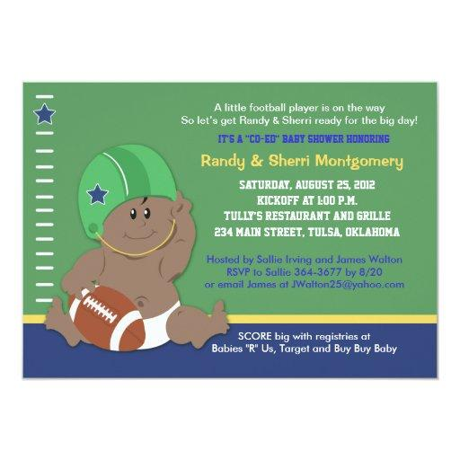 baby shower football baby sports theme baby shower 2 card