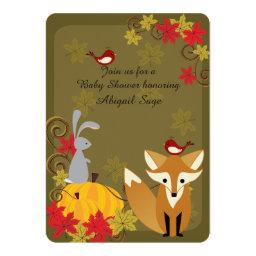 Fox and Woodland Animal Fall  Invite