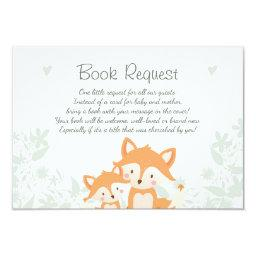 Fox Baby Shower Bring a book  Woodland