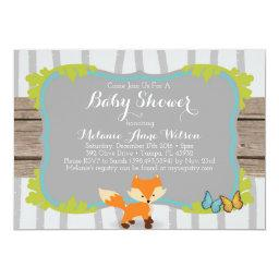 Fox Baby Shower Invite