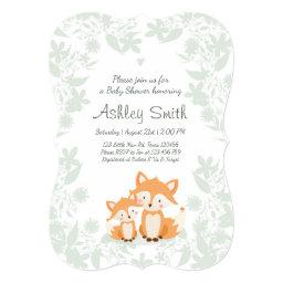 Fox  invite Woodland Shower Forest
