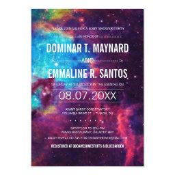 Galaxy Couple  Photo Invite