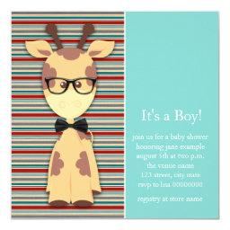 Geek Giraffe Baby Boy Shower
